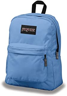JanSport Superbreak Classic Backpack Blue Bunny Asian Daisy Corduroy