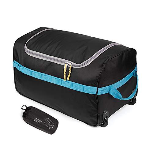 REDCAMP Reisetrolley mit Rollen, 85L Gross Sporttasche Tasche mit Rollen, XXL Leicht Wasserdicht Faltbar Trolley Reisetasche