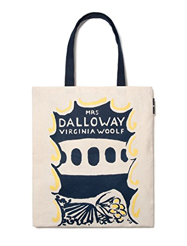 Out of Print VIRGINIA WOOLF TOTE (TO THE LIGHTHOUSE + MRS. DALLOWAY) 15 X 17 Inches