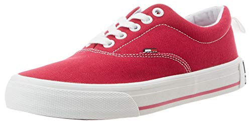 Tommy Hilfiger LowCut Essential Sneaker, Zapatillas Mujer, Rojo (Blush Red Xif), 37 EU