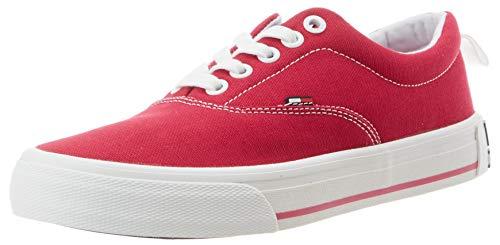 Tommy Hilfiger LowCut Essential Sneaker, Zapatillas Mujer, Rojo (Blush Red Xif), 40 EU