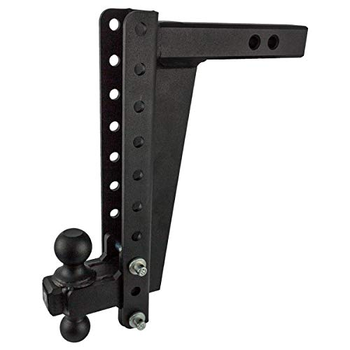 New BulletProof Hitches 2.0 Adjustable Heavy Duty (22,000lb Rating) 14 Drop/Rise Trailer Hitch wit...