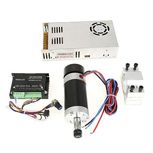 Motor controlador de accionamiento husillo de motor CNC + accionamiento + fuente de alimentación + abrazadera fija 500 W juego de 4 piezas para grabado DIY