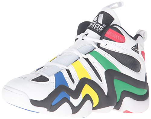 adidas Men's Crazy 8 Basketball Shoe, Black/White/Vivid Green, 8.5 M US