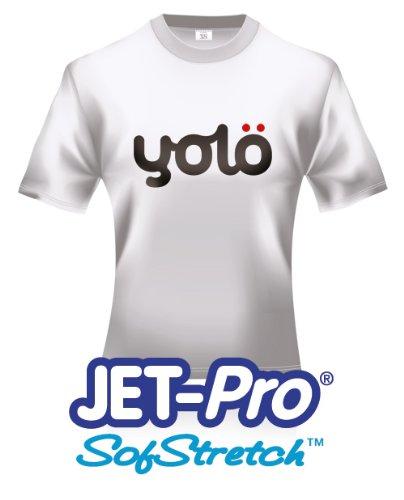 yolö creative 10 x a3 fogli di jet-pro® sofstretch a getto d'inchiostro termico della carta di trasferimento t-shirt/trasferimenti