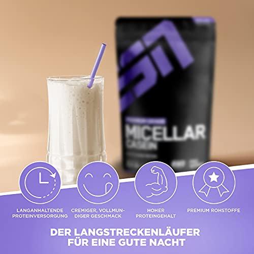 ESN Micellar Casein, Pro Series, Chocolate, 1er Pack (1 x 1000g Beutel) - 2
