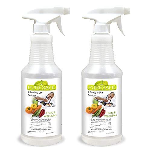 Puresafe Hospital Grade Organic Disinfectant, 64oz, Non-Hazardous, Sanitize Fruit & Vegetables, No Chemical Residue, Multi-surface deep cleaning