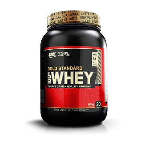 Optimum Nutrition Gold Standard 100% Whey Proteine in Polvere con Proteine Isolat, Aminoacidi e Glutammina per la Massa Muscolare, Cioccolato Bianco, 30 Porzioni, 0.9 Kg, il Packaging Potrebbe Variare