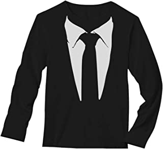 suit print long sleeve t shirt