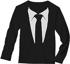 Tuxedo Tie Printed Suit Men's Long Sleeve T-Shirt