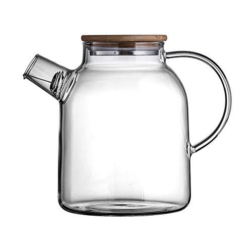 Glazen Pitcher Koffie en Thee Karaf Glazen Fruit Theepot Thuis Met Filter Thee Set Met Deksel Armsteun Koud Water Kan worden Verwarmd Kleine 1000ml Grote 1800ml