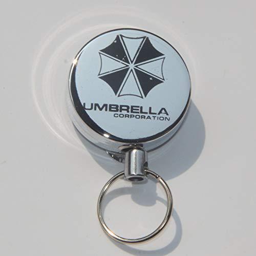 songying Metallgehäuse, Teleskopschnalle, Draht, einfache Zugschnalle, Diebstahlschutz, Schlüsselanhänger, Job-Kartenschnalle, 2 Umbrellas, 2 Umbrellas