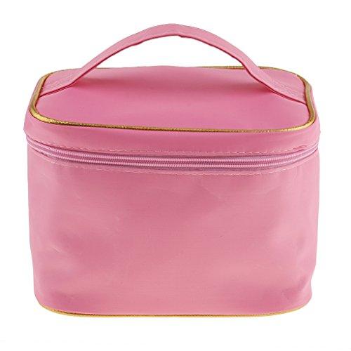 Blesiya Sac De Maquillage Imperméable Cosmetic Storage Organizer Box Holder Sac à Main Voyage - Rose