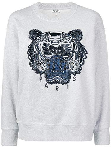 Kenzo Luxury Fashion Damen F952SW7414XI93 Grau Sweatshirt  
