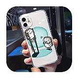 Coque transparente pour iPhone 11 12 mini pro XS MAX 8 7 6 6S Plus X 5S SE 2020 XR-a12-iPhoneXSMAX