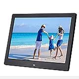 Marco de fotos electrónico de 12 pulgadas Pantalla LCD LED de alta definición 1280 * 800, compatible con tarjeta USB/MS/SD/MMC, función de máquina de interruptor de sincronización, negro