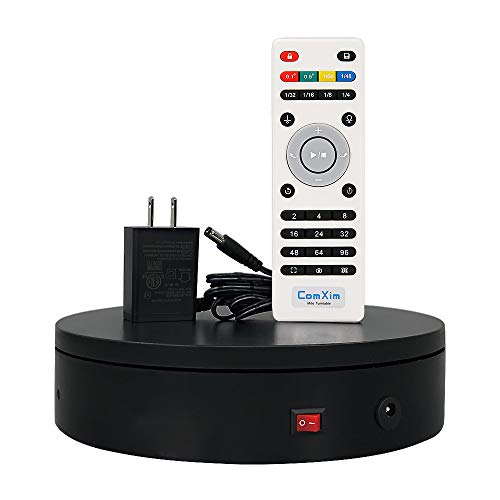 ComXim 360 Degree Black Electric TurntableDirection Angle and Rotation Mode787in Diameter44lb CapacityProduct Photography ProductCake and Jewelry Display,