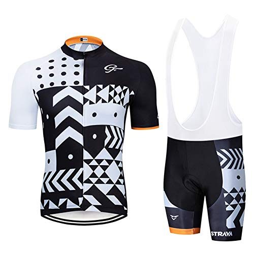 Heren Ademend Sneldrogend Comfortabel shirt met korte mouwen + Gewatteerde shorts Fietskleding Set Fietskleding Kleding