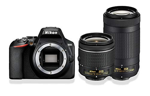 Nikon D3500 Doppelzoom-Kit AF-P DX 18-55 mm 1:3,5-5,6 G+ AF-P DX 70-300 mm 1:4,5-6,3 G ED (24,2MP, 3 Zoll Monitor, ISO 100 - 25.600)