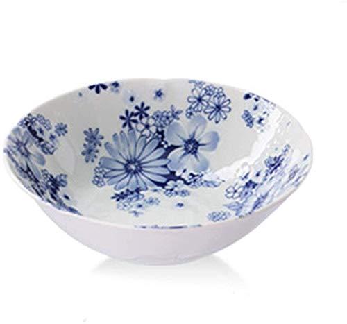 Startseite Geschirr Schüssel Reis-Schüssel-Mahlzeit mit altem Brennofen Haus Teller Teller Keramik-Nudel-Schüssel Suppenschüssel Kreative Geprägte Handbemalte Dessert Dish ( Color : 3926909090 )