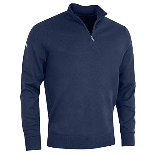 Callaway 2018 Weather Series Mens Thermal Ribbed ¼ Zip Merino Sweater Peacoat Navy Small