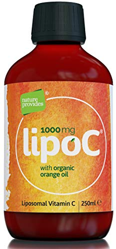 Liposomal Vitamin C 1000mg with Organic Orange Oil : LipoC for Immune Support, Collagen Production | 1g Liquid Non-GMO Sunflower Lecithin | Natural lypo-spheric C (High Strength) 250ml - 50 Servings