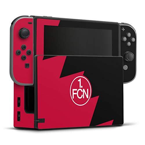 DeinDesign Skin kompatibel mit Nintendo Switch Folie Sticker 1. FC Nürnberg Fanartikel 1. FCN