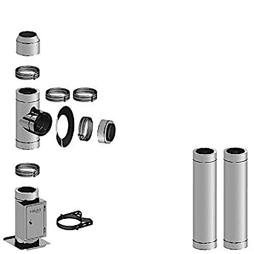 Doppelwandiges Schornsteinpaket 3,3m lang Ø 130mm Isolierung 35mm Material 0,4mm