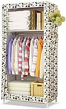 XDDDX Minimalist Cloth Wardrobe Student Dormitory Single Small Fabric Wardrobe Folding Clothing Storage Cabinet Home Furni...