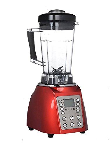 BERG Commercial 1800W PRO Digital Specialist Health Nutrition Blender/Smoothie Maker/Soup Maker (Red)