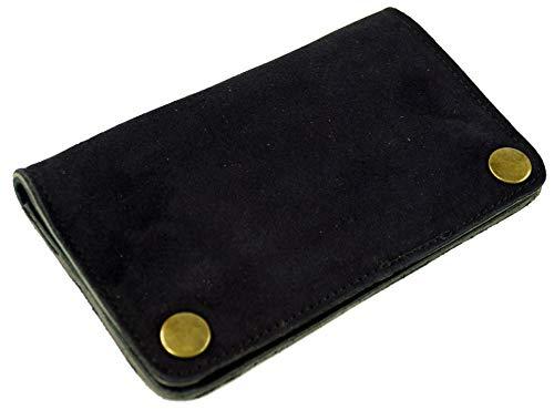 GURU SHOP Tabaktasche, Tabakbeutel, Drehtasche aus Leder - Schwarz, Herren/Damen, Size:One Size, 9x16x1 cm, Kleine Taschen für Kosmetik, Schreibzeug, Mehr