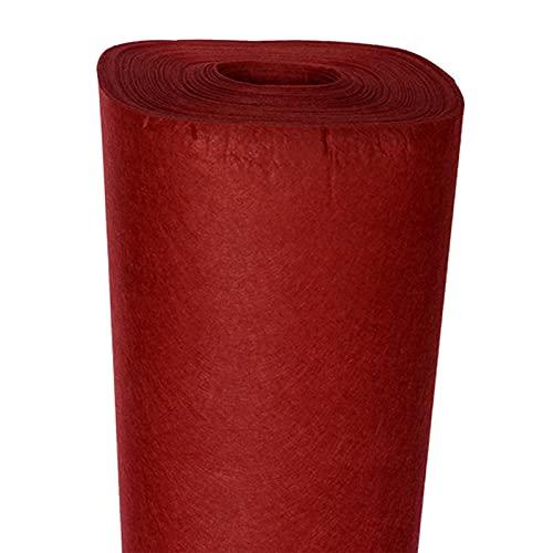 ZHAOFENGE-maotan Hojas de Fieltro, Fieltro para Manualidades No Tejido Tela de Fieltro por Metros 85cm de Ancho 1mm de Grosor DIY Costura Tapete Cartas Telas de Navidad(Color:Vino Tinto)