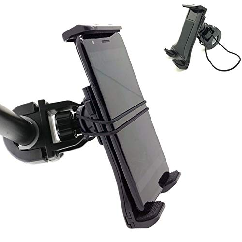 ChargerCity MegaGrip Bike Bicycle Motorcycle Mount w/Security Strap for iPhone 11 Pro XR XS MAX X 8 Plus Samsung Galaxy S9 S10 S20 Note Pixel Moto ONEPLUS Smartphone