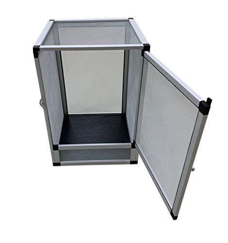 Tropic-Shop Alu Cage Aluminium Drahtgaze Terrarium (42x42x66cm)