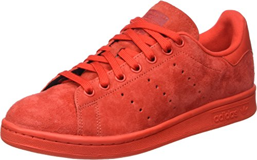 adidas Unisex-Erwachsene Stan Smith Durchgängies Plateau Pumps, Rot (Red/Red/Powred), 41 1/3 EU