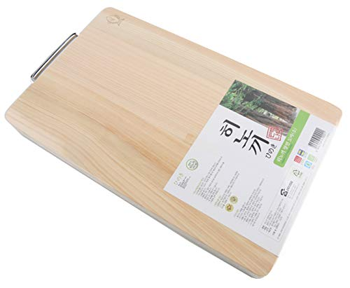 Boumbi Hinoki Wood Reversible Cutting Board(13.6x8.4x1.05 RM_Small)