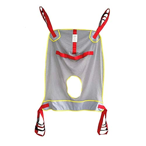 Z-SEAT Patient Lift Toileting Sling - Medizinischer Transfergürtel Großer Mesh Sling für Duschtransfergürtel Medizinische Liftausrüstung Bariatric Handicap Lift Commode SLI