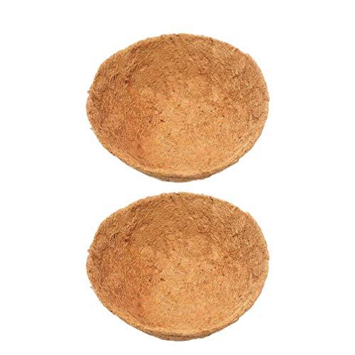 Cabilock 30 cm, forma semiesférica de coco, base para macetas, suelo de coco, cojín para macetas, para casa, hotel, oficina, decoración (2 unidades)