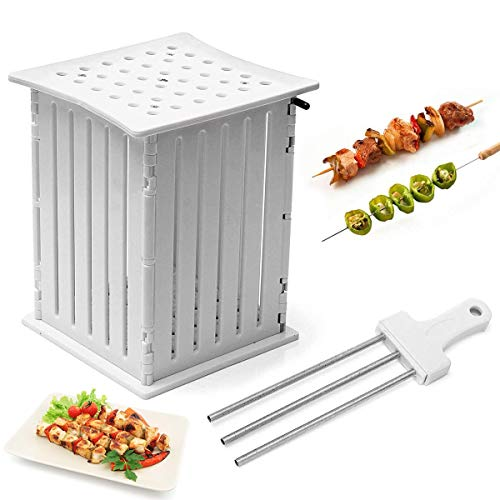 Fly5D BBQ Grill Shish 36-Löcher-Box für Fleisch, Fisch Obst Vegetables Spieße