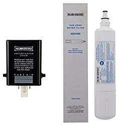 Save time and money with this 4204490 and 7007067 combination pack from Sub-Zero. Includes (1) Sub-Zero Water Filter and (1) Sub-Zero Air Filter. Authentic Factory OEM replacement parts Meets or exceeds NSF/ANSI Standards 42 and 53