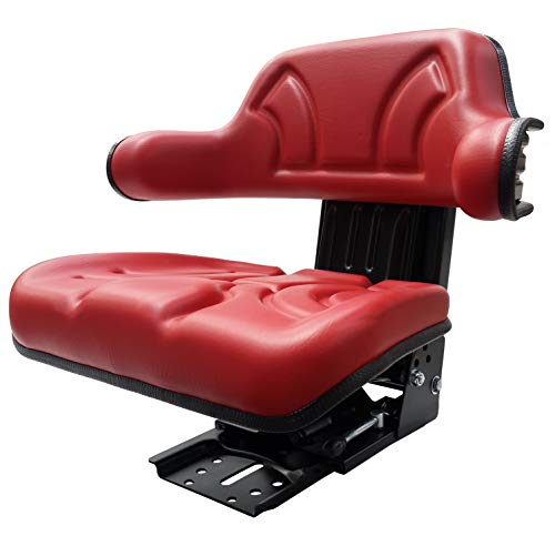 KlaraSeats Schleppersitz Traktorsitz KS 44/2V PVC Rot Oldtimer Sitz