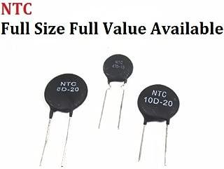 TH-ELECCOMPO 10pcs Thermistor NTC 2.5D 3D 5D-7 5D-9 5D-11 5D-15 5D-20 8D-20 10D-9 10D-11 10D-13 10D-15 10D-20 10D-25 47D-15 Thermal Resistor (2.5D-20)