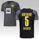 TSH7NDF Dortmund Erwachsene Trikot Away 2021/22, Größe:M, Spielername:5 Zagadou