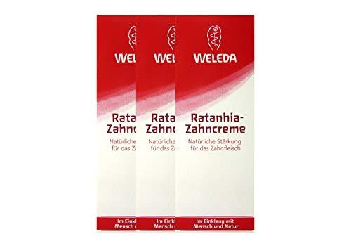 3x Weleda Ratanhia Zahncreme vegan 75 ml