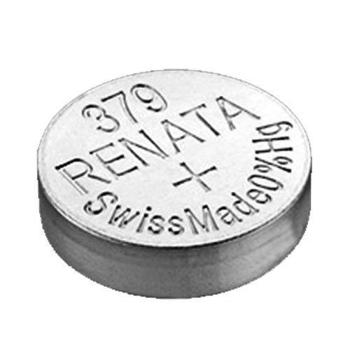 Renata 379 SR521SW Pile bouton à oxyde d'argent pour montre 1,55 V