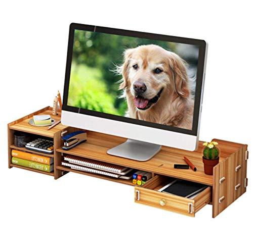 Natuurlijke Houten Display Stand, Anti-lip/Verdikking/Milieu/In hoogte Verstelbaar, Voor Computer/Printer/Laptop/Tv, Houten Textuur