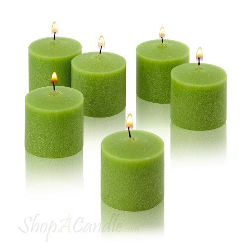 Light In The Dark Lime Green Votive Candles - Box of 72 Unscented Candles - 10 Hour Burn Time - Bulk Candles for Weddings, Parties, Spas and Decorations