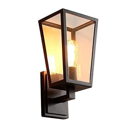 JZMB Retro Mediterrane Zwarte Wandlamp Licht Helder Glas Muur Lantaarn Vintage Eilanden Aisle Corridor Keuken Wijn Kelder Muur Schansen Traditionele E27