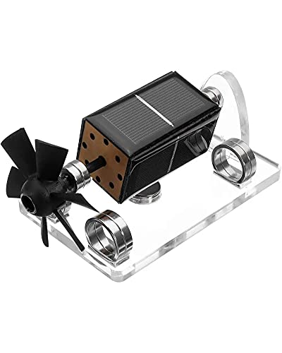 LLC Modelo De Ciencia Educativa Levitación Magnética Motor Solar Adornos De Levitación Magnética Creativa Aspa De Ventilador Levitación Modelo De Motor Solar Regalo