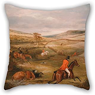 Oil Painting Francis Calcraft Turner - The Berkeley Hunt, 1842- The Chase Cushion Cases Best for Kids Room Relatives Home Office Bench Car Pub 20 X 20 Inches / 50 by 50 cm(Double Sides)